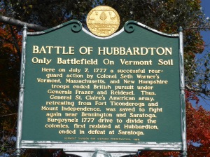 The Historical Marker with a brief description of the battle that took place here.