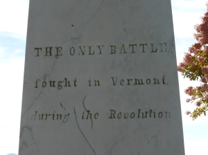 Text on the monument.